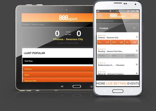 888 Sport scommettere da mobile