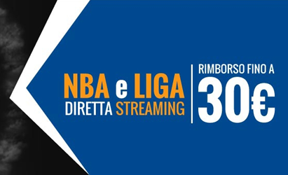 Bonus streaming NBA e LIGA spagnola