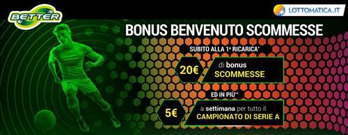 Bonus di benvenuto Better Lottomatica