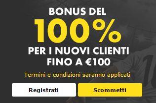 Bet365 bonus di benvenuto