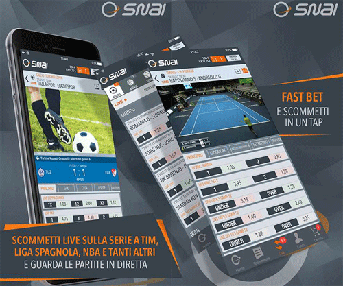 snai app scommesse live streaming