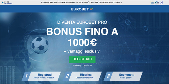 Bonus Eurobet High Roller