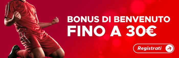 betclic bonus di benvenuto 30 euro