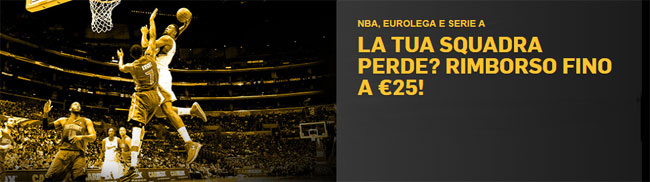 betfair bonus nba eurolega serie a