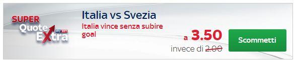 skybet super quota extra Italia Svezia