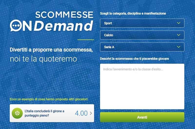 scommesse on demand