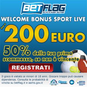 Betflag bonus di benvenuto 200 euro