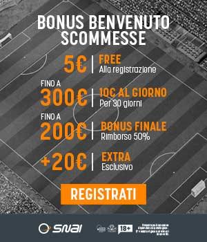snai bonus extra 20 euro