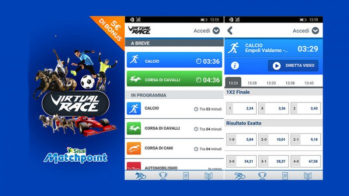 Virtual: la nuova app scommesse Sisal Matchpoint