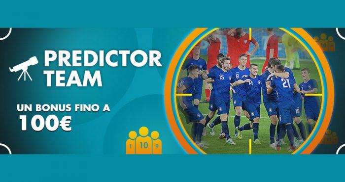 Predictor Team sugli Europei 2021 con Lottomatica