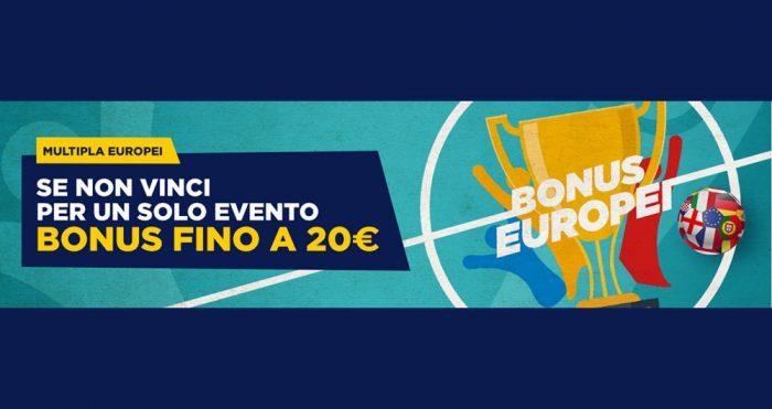 Bonus multipla Euro 2020 con Goldbet
